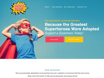 Superhero Adoption Website nonprofit divi wordpress website adoption superhero