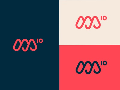 M10 Branding Concept red and blue m icon 10 logo m m logo typography blue icon logo design branding