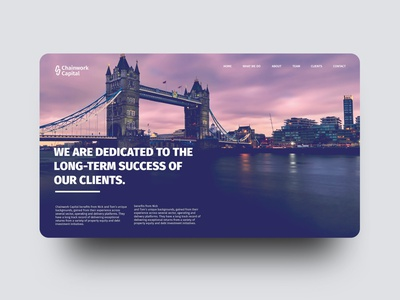 Chainwork Capital Branding Concept london website london eye chain logo chain icon chain purple website image website london web website ui flat ux typography branding design