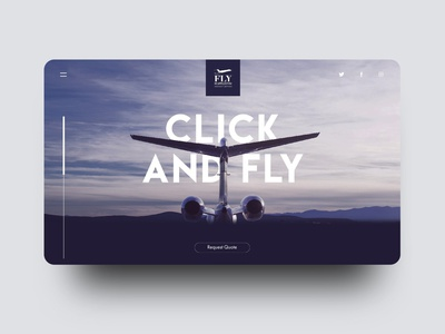 Private Jet Website Concept private jet website layout web layout uxdesign uxui ux purple website blue website minimalistic website plane web flat blue minimal vector typography illustration logo icon branding design