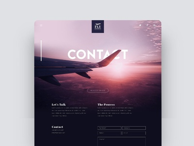 Contact Page Concept ui purple travel plane website private jet contact website contact page contact form website ui flat ux vector typography illustration logo icon branding design