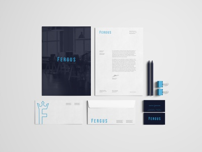 Fergus Stationary Branding modern envelope business card design letterhead branding stationary
