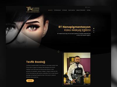 Tevfik Bozdağ - Permanent Makeup makeup tevfikbozdag html css uxdesign uidesign webdesign ux ui