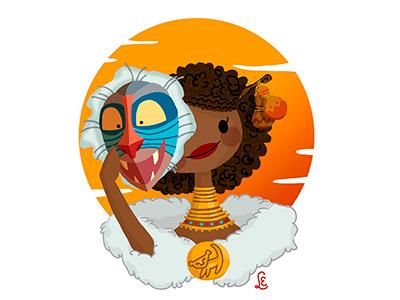 Rafiki starlette rafiki the lion king monkey africa disney characters digital mask