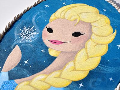 Queen Elsa portrait starlettes elsa portraits girls frames disney frozen ice winter snow snowqueen