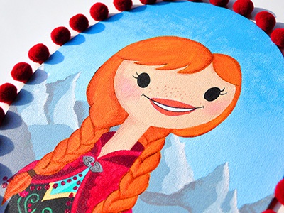 Princess Anna starlettes anna portraits girls frames disney frozen ice winter snow disney princess redhair