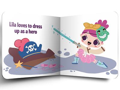 Lila loves digital art children illustration editorial childrens books book