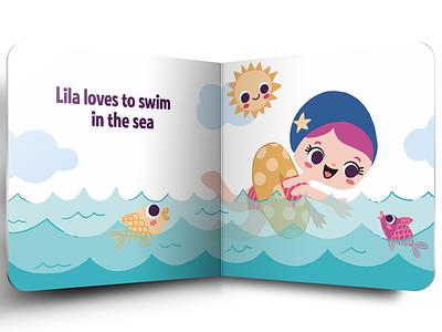 Lila loves sea publishing childrens illustration