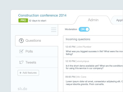 Minimal Light Admin light bright fair lucid psd admin menu navigation minimal clean dashboard free