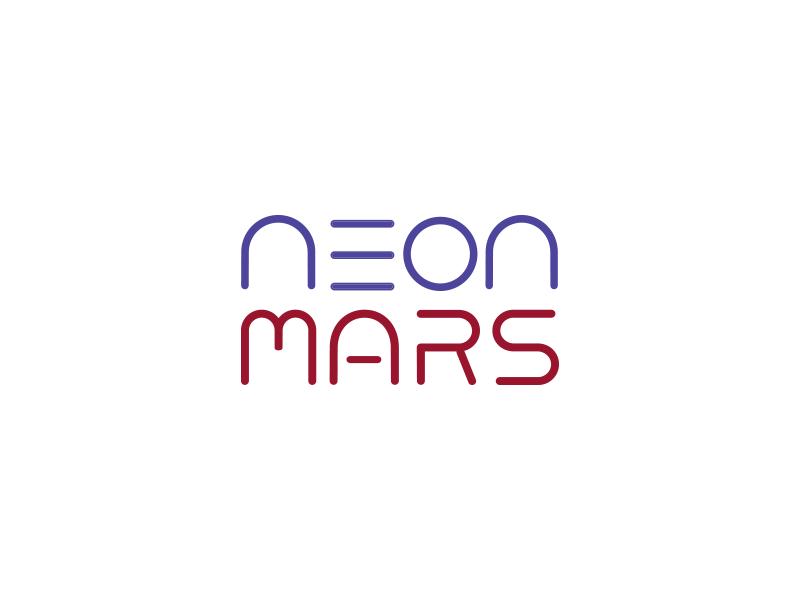 Neon mars logo