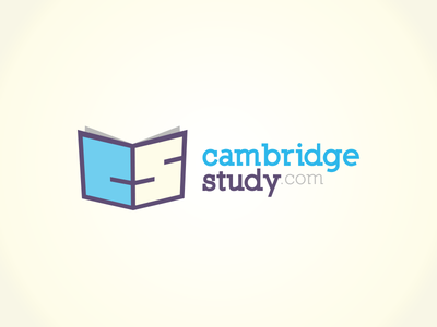 Cambridge Study Logo read magazine square letters symbols pages book education study cambridge