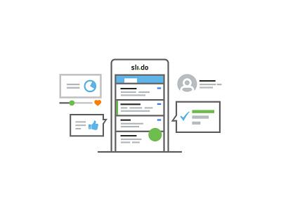 Quick illustration polls poll bubbles items material menu mobile illustration slido