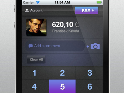 Free iPhone UI psd (cashier) free freebie freebies iphone 3gs 4s ios apple mac psd source blue noise payment pay eur cash numbers dialer app design buttons cashier square up paypal money download get open file