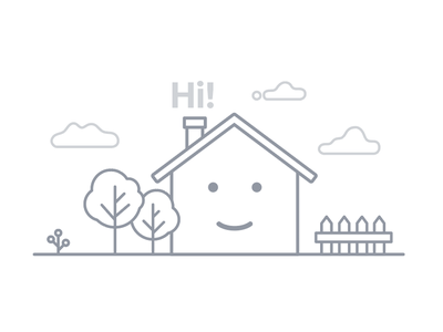 Hello Dribbble! illustration