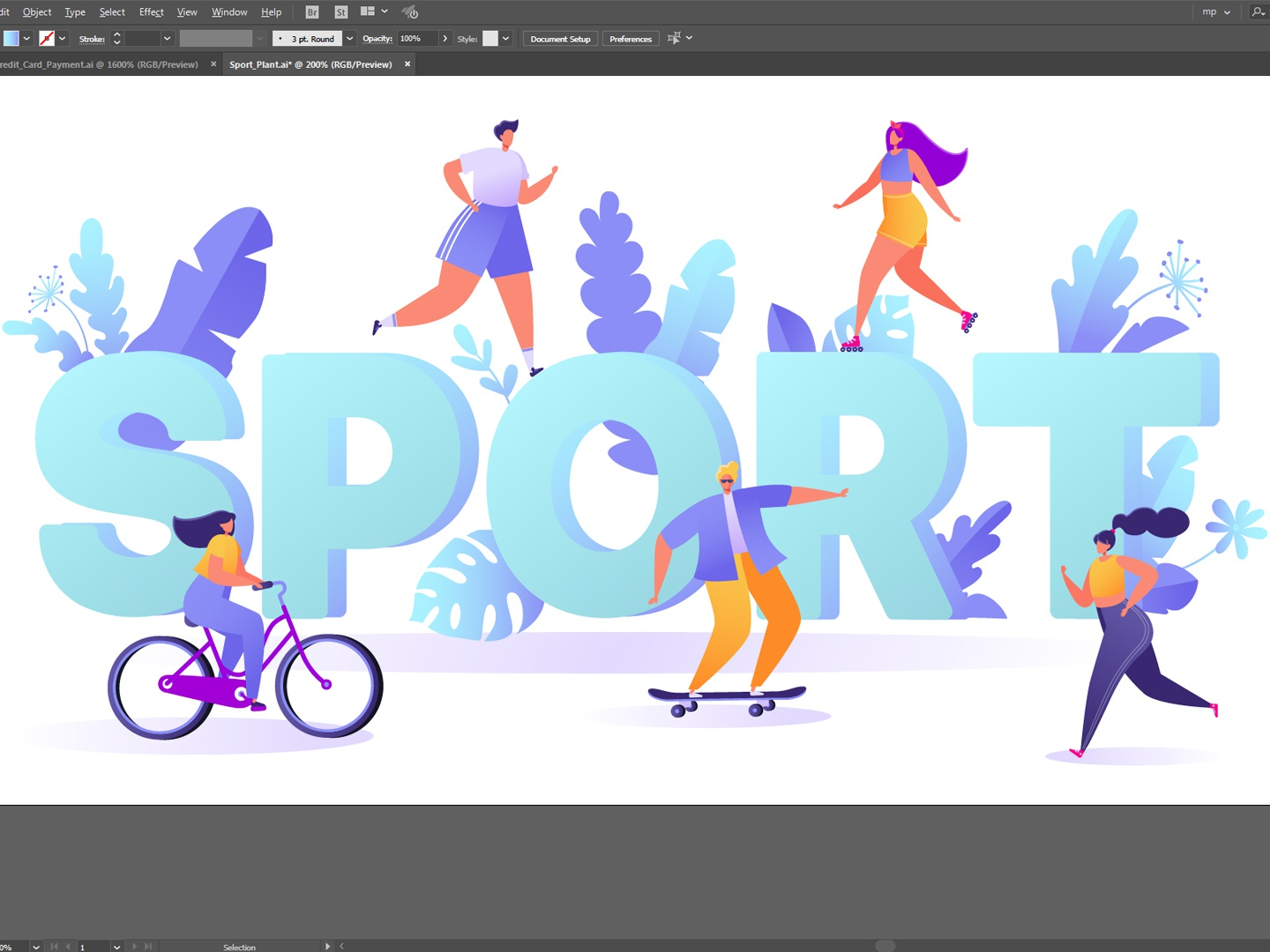 Sport Motivation Concept vector design 2d adobe illustrator illustration motivation concept activity template male poster person flyer active female action advertising run bicycle