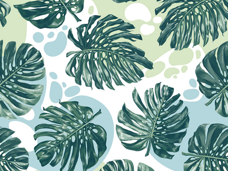 Monstera Seamless Pattern rainforest foliage tropical pattern wrapping paper wallpapers print green tropical leaves tropical surface pattern design fashion textile surface design abstract pattern seamless monstra