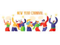 New Year Carnival Сropp