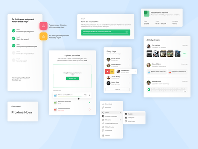Choose your weapon activity menu bar menu upload sidebar components component ui design