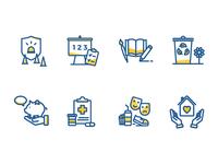 Multi-colored icon set