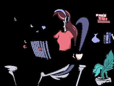 Illustrations for castos.com wordpress podcast concept vector illustration playfull fresh colorful
