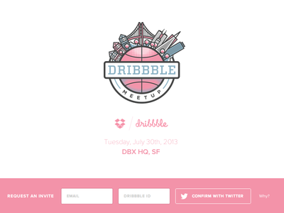 Dropbox/Dribbble Meetup Website