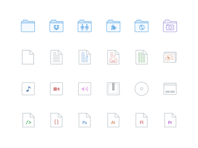Dropbox File Icons icons