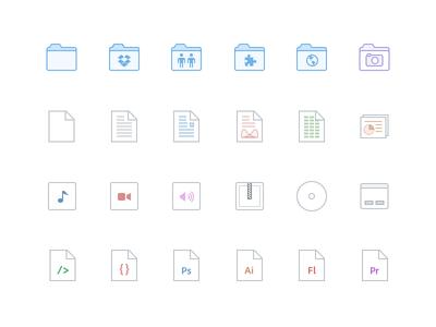 Dropbox File Icons