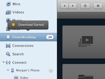 Miro 4's new UI and UX bits ui interface miro button design ux pcf app osx windows linux video icons
