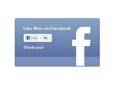 Facebook like UI for Miro (plus free resource) by Morgan ... Facebook Like Button Psd