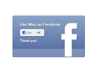 Facebook like UI for Miro (plus free resource) miro facebook design resource ui free resource
