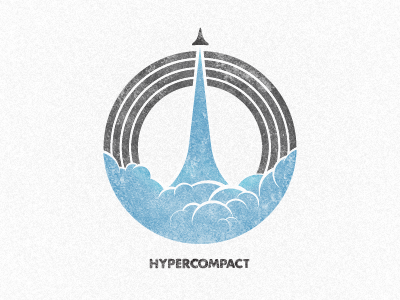 Logo/Emblem/Mark for Hypercompact space path launch flight badge emblem hypercompact mark logo wefunction brushes rocket branding