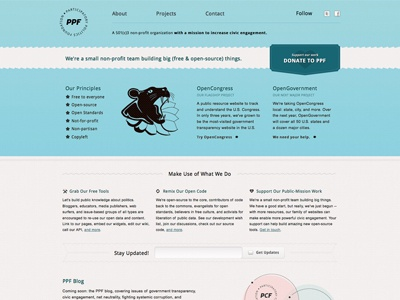 Just soft launched the new PPF website.  ppf blue open-source design