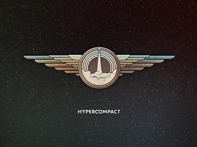 Get your wings. (web logo) illustration design space wings ship rocket hypercompact asset emblem mark logo brand