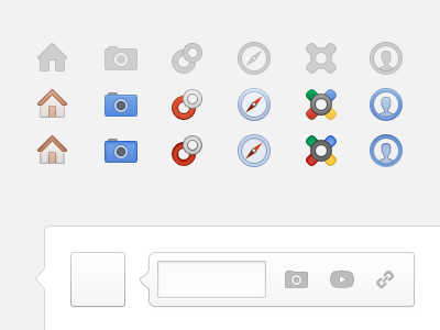 Google+ gets a shiny new coat of paint. plus icons buttons ui interface