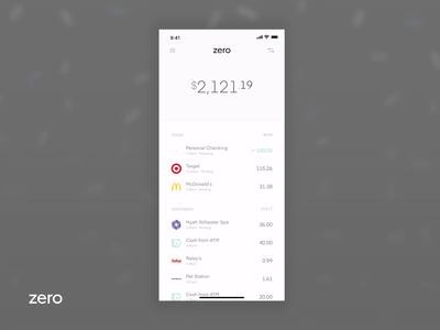 Zero Cash Back credit card confetti design icons interface ui cash app zero