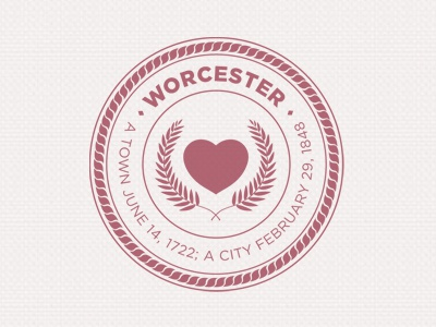 I finished the Worcester, MA City Seal (mark) design seal woostah pcf mark