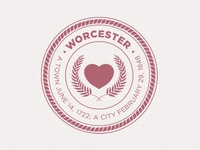 I finished the Worcester, MA City Seal (mark)