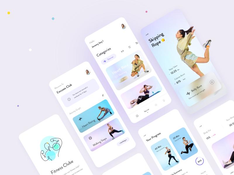fitness UI design icon ux website type illustration branding app design