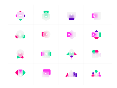 Frosted Glass icons design 02 icon set icon icon design type branding illustration design icons