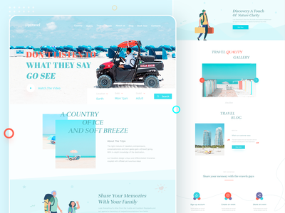 Uptravel:Tour & Travel Website Design visit hotel booking travel illustration illustration minimal design ui branding website traveling ux travel website tour travel