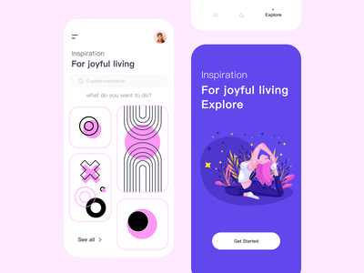 Project Communication ui minimal exercises fitness joyful ux branding design app