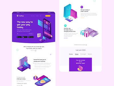 Verifone landing page design ui account app design illustration branding minimal website financial money pay