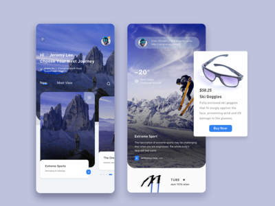 trave app design