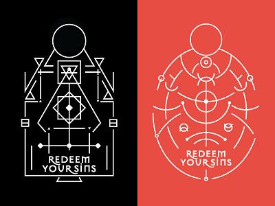 Redemption Potion lines symbolism magic black magic alchemy redeem redemption sins potion packaging label