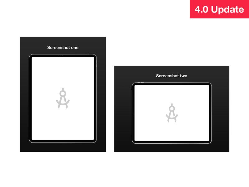 iPad Screenshots screenshots template ipad pro ipad sketch psd photoshop