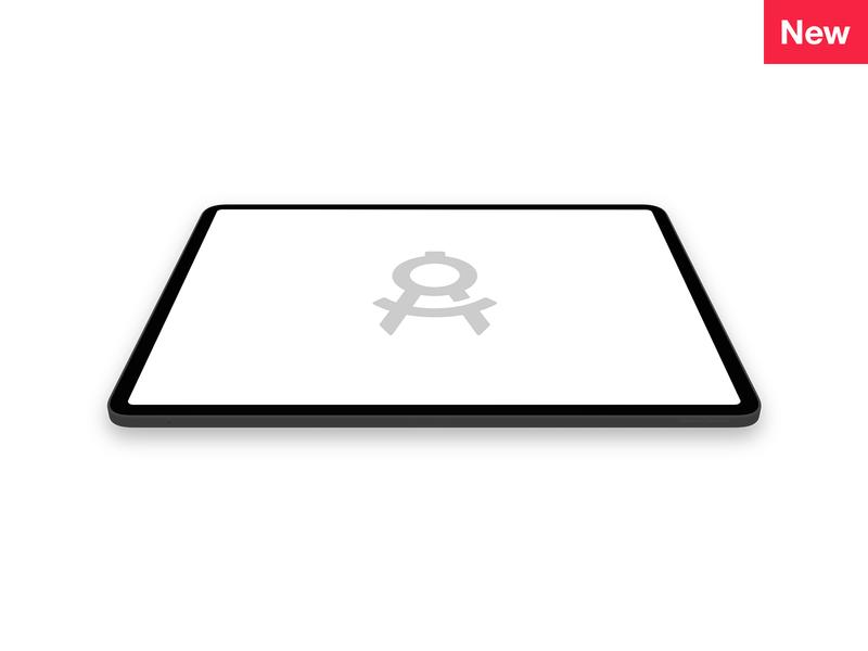 iPad Pro (3rd Gen) 3D mockup apply pixels template psd sketch photoshop 2018 3rd gen ipad pro