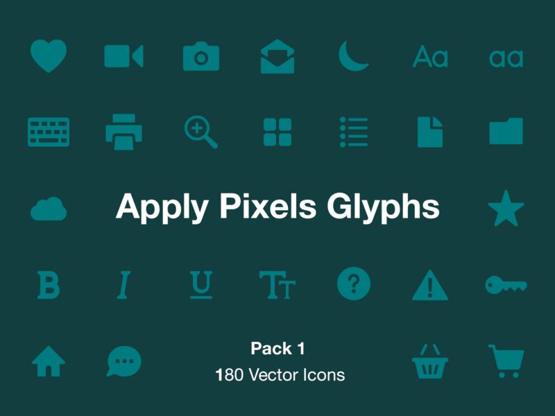 Apply Pixels Glyphs icons pack nav bar tab bar ios heart settings icons icon set illustrator svg apply pixels sketch psd photoshop