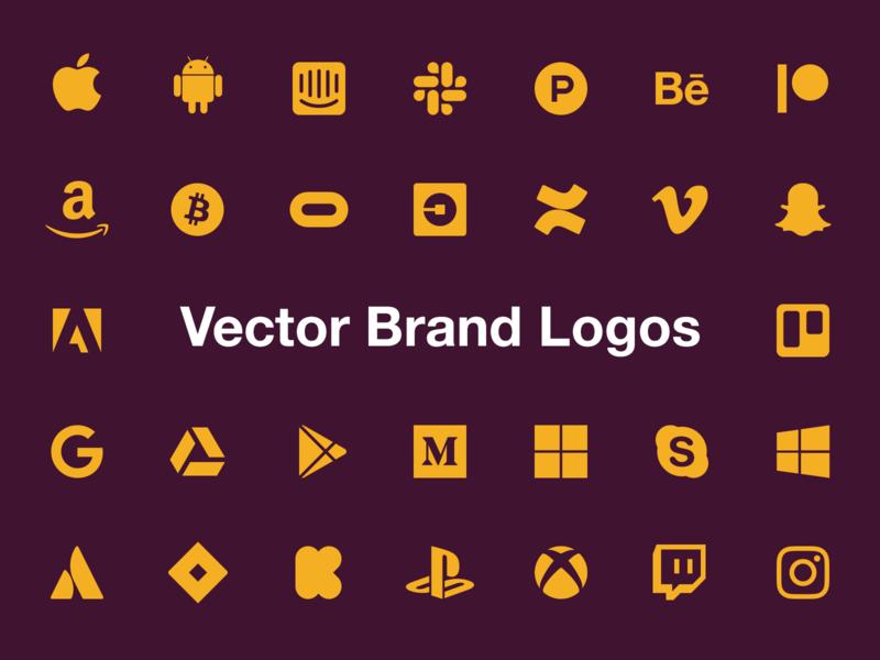 Vector Brand Logos google patreon messenger twitter facebook vector icons brands logo apply pixels template psd sketch photoshop
