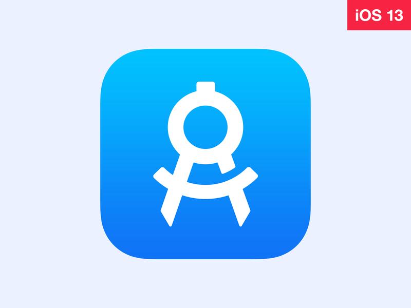 iOS 13 App Icon app icon wwdc ios 13 ios apply pixels psd template sketch photoshop