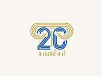 Logo 20 years Marathon Rome